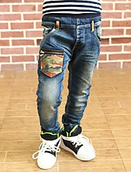 Boy's Camouflage Pocket Long Jeans