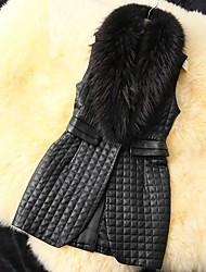 Fur Vest Sleeveless Faux Fur Warm Party/Casual Vest