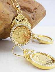 18K Gold Plated Coin Jewelry Set