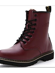 Men's Shoes Casual Leather Boots Black/Brown/Red