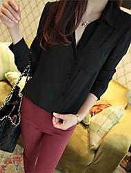 YIQI® Women's Lapel Slim Chiffon Cardigan Blouse