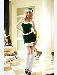 Green Sleevless Halloween Dress  Adult Woman's Christmas  Costume