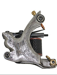 Damascus Steel 10-wrap Coil Tattoo Machine Gun Shader