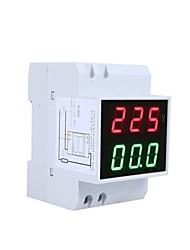 Digital Din-Rail LED Dual Display Voltage Ammeter (AC 80-300V 0.2-99.9A)