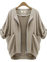 moda feminina weimeijia® todas as partidas de três quartos manga outerwear