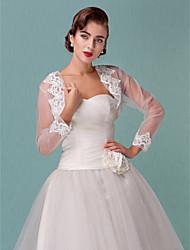 Wedding Wraps Long Sleeve Tulle Wedding/Special Occasion Wraps Bolero Shrug