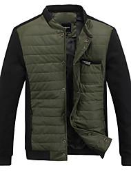 causalité coréen col rond mince de veste de manteau des hommes