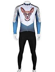 PALADIN Men's Cycling Clothing Sets/Suits Long Sleeve Bike Spring / Summer / Autumn Breathable / Quick Dry WhiteS / M / L / XL / XXL /