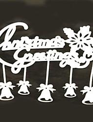 cloches merry christmas fenêtre autocollants