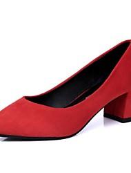zapatos de las mujeres de las bombas del dedo del pie en punta tacón grueso zapatos más colores disponibles