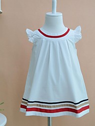 Girl's Cotton Blouse , Summer ½ Length Sleeve