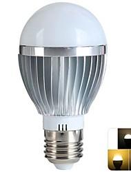 5W E26/E27 Lâmpada Redonda LED 12 SMD 100-500 lm Branco Quente Regulável / Controle Remoto AC 85-265 V