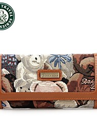 DAKA BEAR® Ladies Casual Coffee Wallet Knitted Camouflage Purse Bag