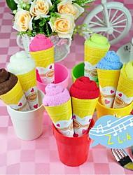 gadgets de salle de bains, créatrice de la glace de serviette en forme de crème polyester, vacances ou cadeau d'anniversaire (couleur aléatoire)