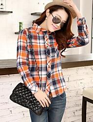 ozl®women Revers beiläufige dünne Langarm-Shirt