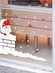 """Frohe Weihnachten schöne Kitty Fensteraufkleber (31,44 """"w × 21.24"""" l)"""