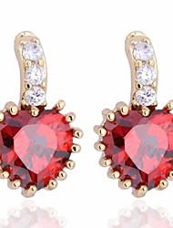 Women's Fashion Unique Design 18K Gold Plating Zircon Earrings