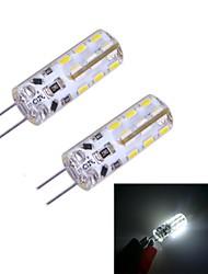 2W G4 LED Doppel-Pin Leuchten 24 SMD 3014 100~120 lm Kühles Weiß DC 12 V