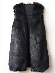 Aier nuevo invierno outwear capa de la manera de las mujeres (negro) 40