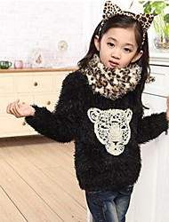 Girl's Sweater & Cardigan,Faux Fur Winter / Spring / Fall Black / Red
