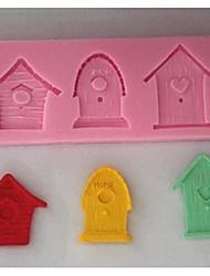 House Door Fondant Cake Chocolate Silicone Mold Cake Decoration Tools,L11.7cm*W4.6cm*H1cm