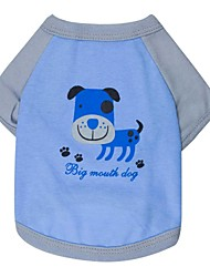 Lovely The Dog Pattern 100% Cotton T-Shirt for Dogs (Assorted  Sizes)