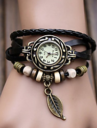 ToMoNo Leaf Pendant Vintage Bracelet Watch