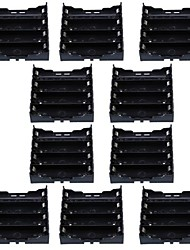 4X18650 Battery Case Holder with Pin for PCB Printed Circuit Board and More (10 PCS)