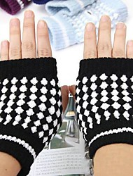 теплые ананас трикотаж половиной перчатки Unisex Случайная цвет