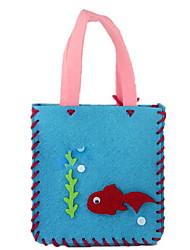 5pcs main 3d dessin animé de puzzle artisanat sac à dos en tissu jouets éducatifs