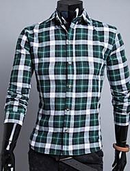 Men's Lapel Simple Casual Long Sleeve Shirt