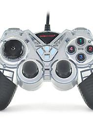 imecoo controlador usb doble choque controlador pc juego de carreras de informática por ejemplo-c1016