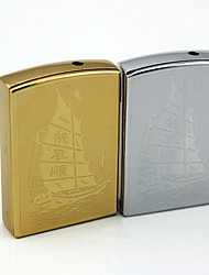 Personalized Engraving Sailing Pattern Metal Electronic Lighter