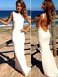 Women's Dresses , Spandex Vintage/Sexy/Bodycon/Beach/Party Sleeveless Bayue