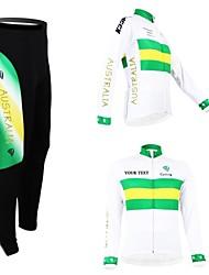 kooplus otoño personalizado ropa ciclista australia camiseta y pantalones de manga larga primavera unisex traje de ciclismo de poliéster