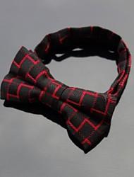 cotone nero rosso degli uomini xinclubna® di controllare papillon regolabile (1pc)