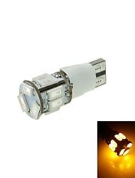 T10 LED de 2 modos amarilla 5w 11x5630smd 550lm de la luz de freno del coche (DC12-16V)