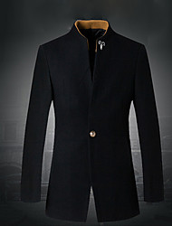 Men's Coats & Jackets , Wool Casual Dibai