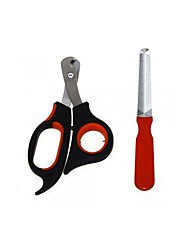 Grooming Aids / Cleaning Nail Clipper Metal / Rubber / Stainless Steel Red / Black