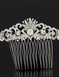 De 8.7cm vrouwen huwelijksfeest hart bloem haar kam sieraden met legering en strass