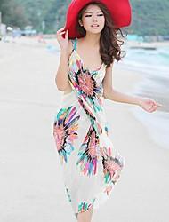 Women's Chiffon Cover Up Sarong Beach Dress
