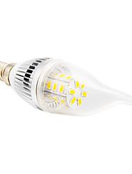 Lâmpada Vela E14 5 W 350 LM 2500-3500 K Branco Quente 24 SMD 5730 AC 220-240 V CA