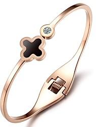 mooie mode schelpen geluk klavers stellen vijzel ms titanium stalen gouden armband