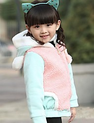 Girl's Blue / Red Jacket & Coat,Solid Cotton Blend Winter / Fall