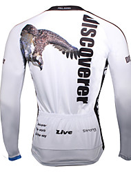 Sports Cycling Jersey Men's Long Sleeve Bike Breathable / Ultraviolet Resistant / Sweat-wicking Tops Coolmax Animal Summer / Fall/Autumn