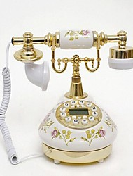 Hand Paint Flower Style Ceramic Material Home Decor Telephone with ID Display