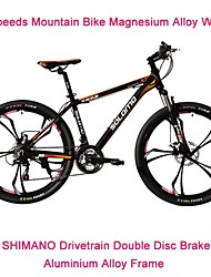 "21 Speeds SHIMANO Drivetrain 26"" *17 SLM™ Disc Brake Mountain Bike 6 Spokes Flat Tire Fork Shock Absorption"