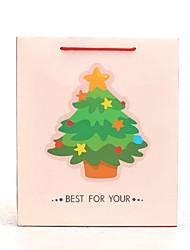 Natal padrão de árvore cremosos dom sacos brancos
