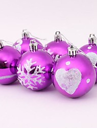 Christmas Tree Decoration Coloured Drawing Ball