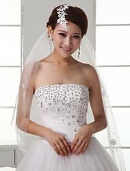 Veil Tier Fingertip Veils Wedding Veil Lace Applique Edge